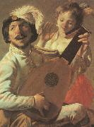 Hendrick Terbrugghen The Duet-l oil painting reproduction