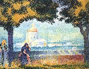 Henri Edmond Cross The Church of Santa Maria degli Angeli near Assisi oil painting