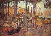 Henri Edmond Cross Evening Breeze oil painting