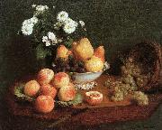 Henri Fantin-Latour Flowers and Fruit on a Table oil painting