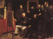 Henri Fantin-Latour An Atelier in the Batignolles oil painting