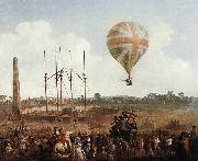 IBBETSON, Julius Caesar George Biggins' Ascent in Lunardi' Balloon sf oil painting
