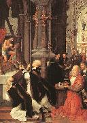 ISENBRANT, Adriaen Mass of St Gregory sf oil painting
