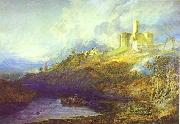 J.M.W. Turner Warkworth Castle Northumberland Thunder Storm Approaching at Sun-Set. oil painting