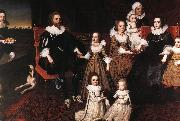JOHNSON, Cornelius Sir Thomas Lucy and his Family sg oil painting