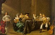 Jacob Duck Card Players and Merry Makers oil painting