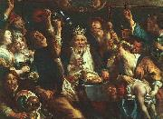 Jacob Jordaens The King Drinks oil painting reproduction