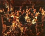 Jacob Jordaens Bean Feast oil painting picture wholesale