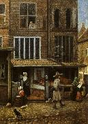 Jacobus Vrel Street Scene with Bakery oil painting