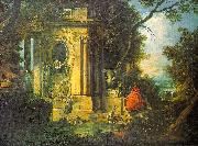 Jacques de la Joue Park Scene oil painting picture wholesale