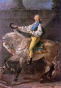 Jacques-Louis David Count Potocki oil painting