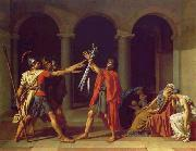 Jacques-Louis David Oath of the Horatii oil painting