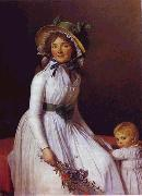 Portrait of Emilie Seriziat and Her Son