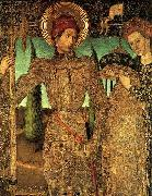 Jaime Huguet Triptych of Saint George (Detail of Saint George and the Princess) oil painting