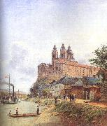 Jakob Alt The Monastery of Melk on the Danube oil painting picture wholesale