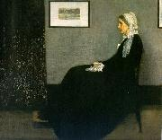 James Abbott McNeil Whistler Portrait of the Artist s Mother oil painting