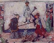 James Ensor Skeletons Fighting for the Body of a Hanged Man oil painting picture wholesale
