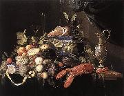 Jan Davidsz. de Heem Still-Life with Fruit and Lobster