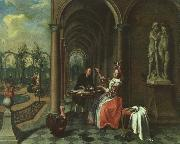 Garden with Figures on a Terrace