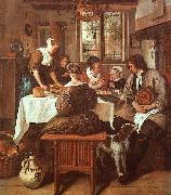 Jan Steen Grace Before Meat oil painting picture wholesale