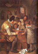 Jan Steen The Schoolmaster oil painting