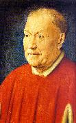 Jan Van Eyck Portrait of Cardinal Niccolo Albergati oil painting artist
