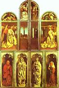 The Ghent Altarpiece with altar wings closed