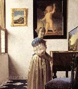 Jan Vermeer Lady Standing at Virginal oil painting picture wholesale