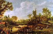 Jan van  Goyen River Landscape oil painting picture wholesale