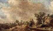 Jan van Goyen Haymaking oil painting