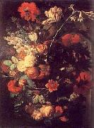 Vase of Flowers on a Socle
