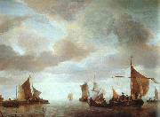 Jan van de Capelle Ships on a Calm oil painting picture wholesale