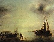 Jan van de Cappelle Becalmed oil painting artist
