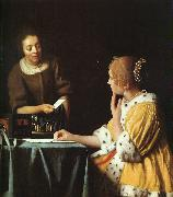 Lady with her Maidservant