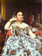 Portrait of Madame Moitessier Sitting.