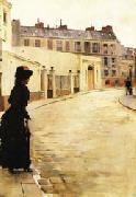 Jean Beraud Waiting oil painting artist