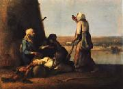 Jean Francois Millet The Haymakers' Rest oil painting picture wholesale