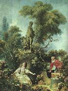Jean Honore Fragonard The Meeting oil painting on canvas