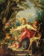 Jean Honore Fragonard Blindman's Buff oil painting on canvas