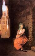 Jean Leon Gerome Arab Girl with Waterpipe oil painting picture wholesale