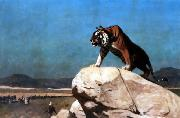 Jean Leon Gerome Tiger on the Watch oil painting picture wholesale