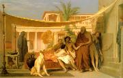 Jean Leon Gerome Socrates Seeking Alcibiades in the House of Aspasia oil painting