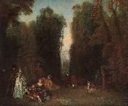 Jean-Antoine Watteau View through the trees in the Park of Pierre Crozat oil painting artist