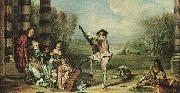 Jean-Antoine Watteau The Music Party oil painting picture wholesale