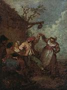 Jean-Antoine Watteau Peasant Dance oil painting picture wholesale