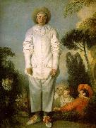 Jean-Antoine Watteau Gilles as Pierrot oil painting reproduction