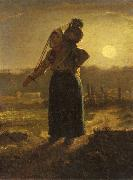 Jean-Franc Millet Norman Milkmaid oil painting picture wholesale