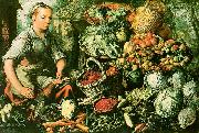 Joachim Beuckelaer Market Woman with Fruits, Vegetables and Poultry oil painting picture wholesale