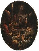 Joachim Wtewael Supper at Emmaus oil painting