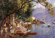 John Douglas Woodward Villa Carlotta, Lake Como oil painting picture wholesale